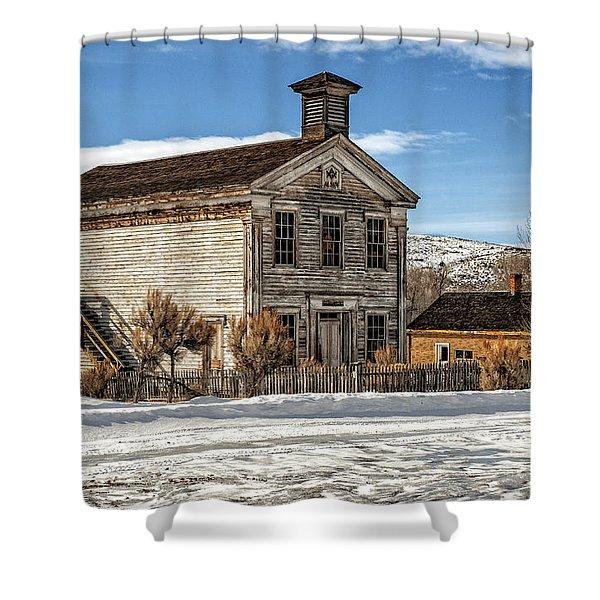 Masonic Lodge School Shower Curtain