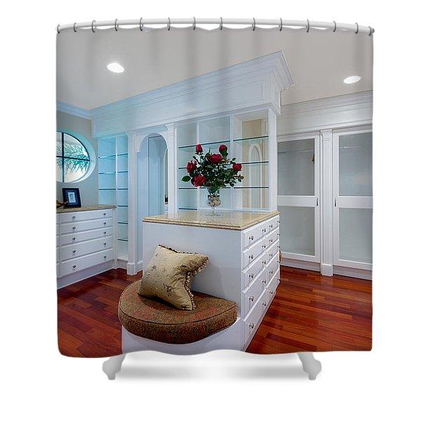 Master Closet Shower Curtain