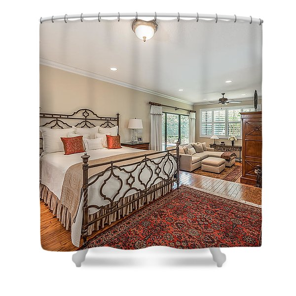 Shower Curtain featuring the photograph Master Suite by Jody Lane