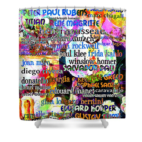 Masters Of Art A Bar At The Den Folies Bergere 20160306 Shower Curtain