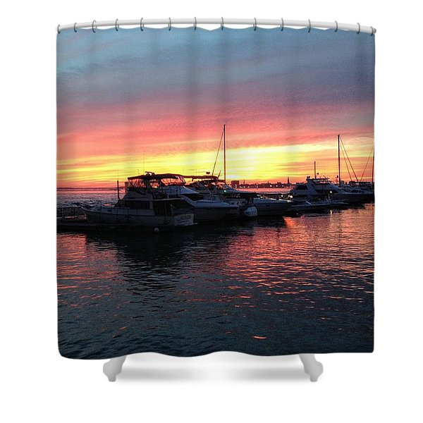 Masts And Steeples Shower Curtain