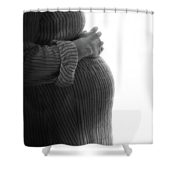 Maternity Silhouette Shower Curtain