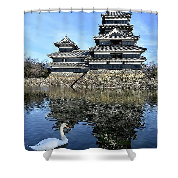 Matsumoto Swan Shower Curtain