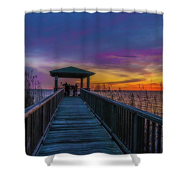Mattamuskeet Lake Shower Curtain