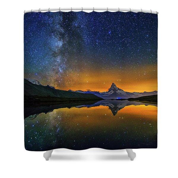 Matterhorn By Night Shower Curtain