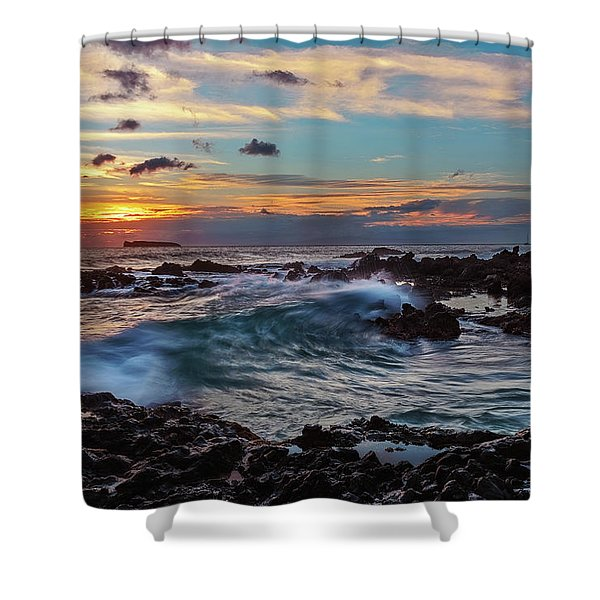 Maui Sunset At Secret Beach Shower Curtain