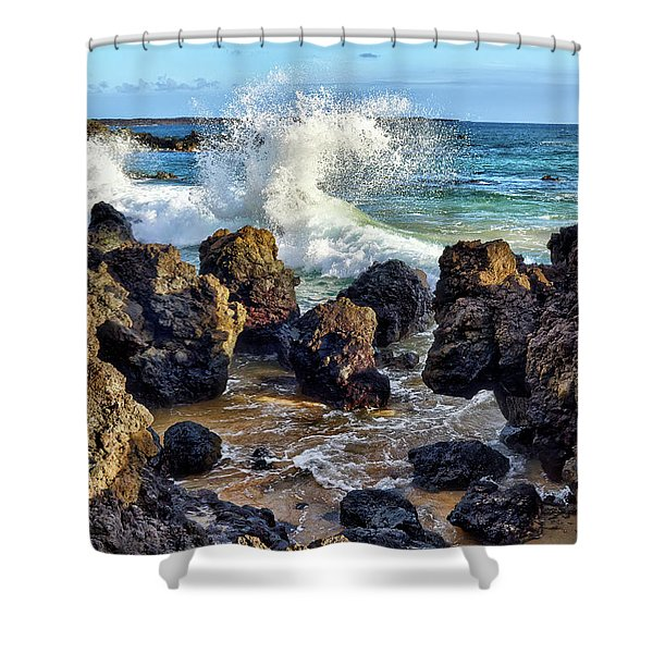 Maui Wave Crash Shower Curtain