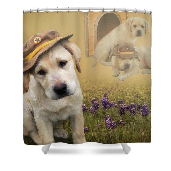 Maverick And Tori - Labrador Art Shower Curtain