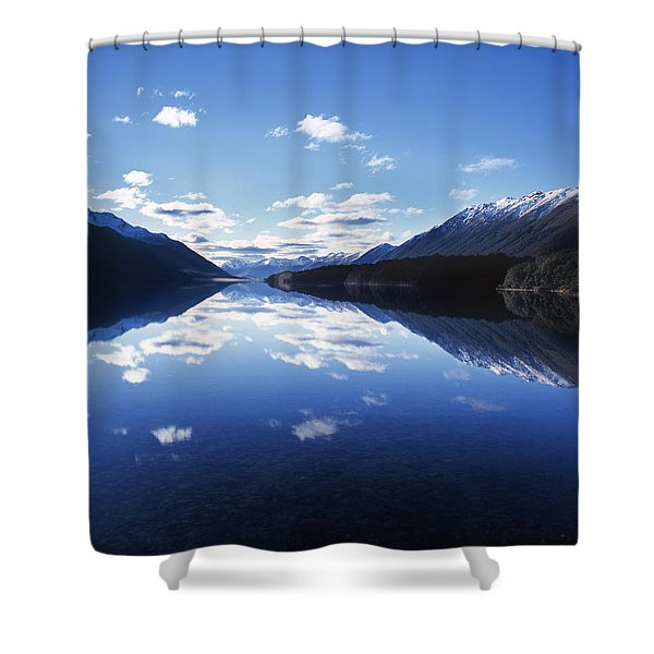 South Mavora Lake, Southland, New Zealand. Shower Curtain