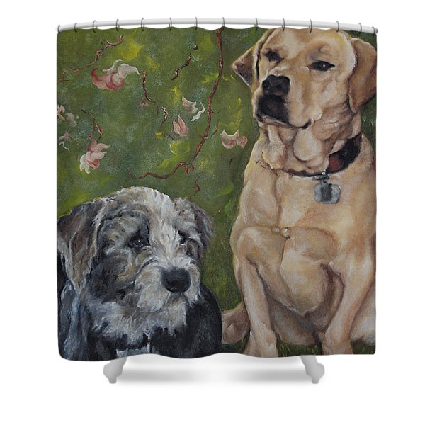 Max And Molly Shower Curtain