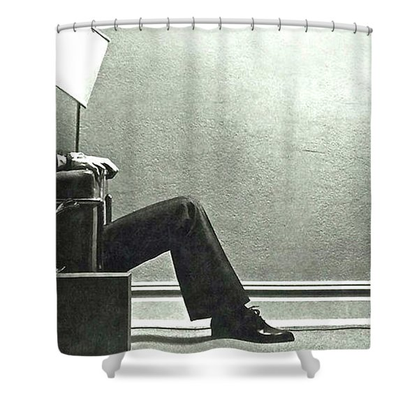 Maxell Ad Blown Away Guy Shower Curtain