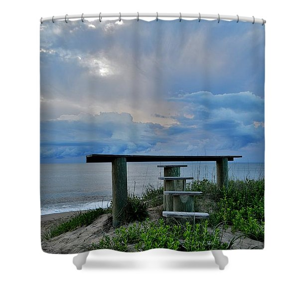 May 7th Sunrise Shower Curtain