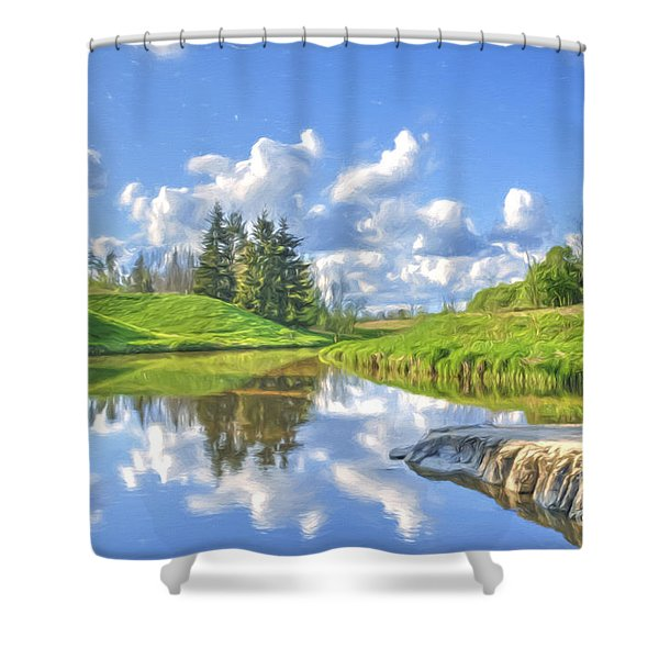 May Afternoon Shower Curtain