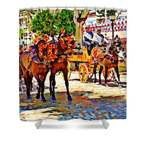 May Day Fair In Sevilla, Spain Shower Curtain