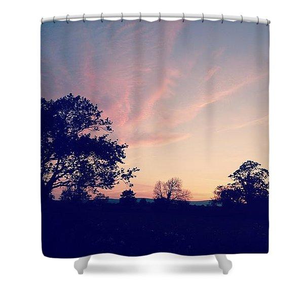 May Sunrise, Lancashire, England Shower Curtain
