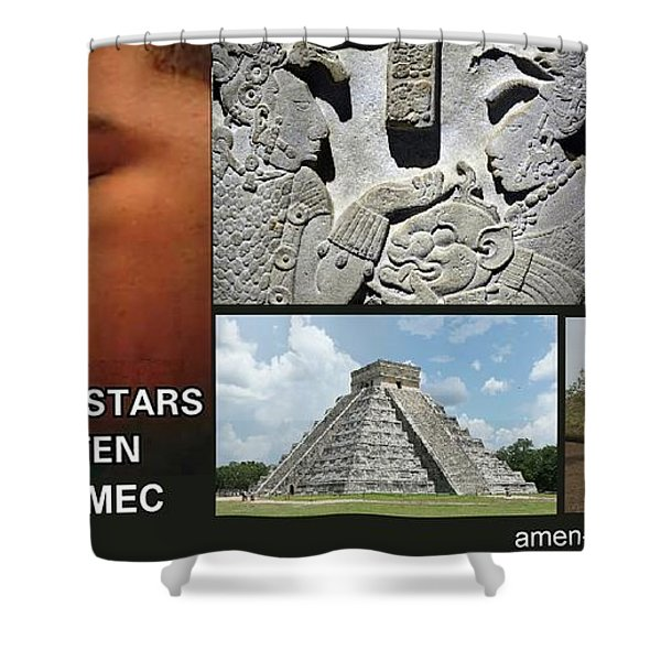 Mayan Olmec Shower Curtain