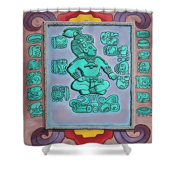 Shower Curtain featuring the painting Mayan Prince by Antonio Romero