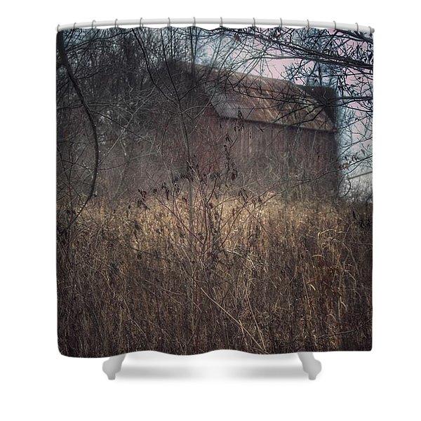0025 - Mayville's Hidden Barn I Shower Curtain