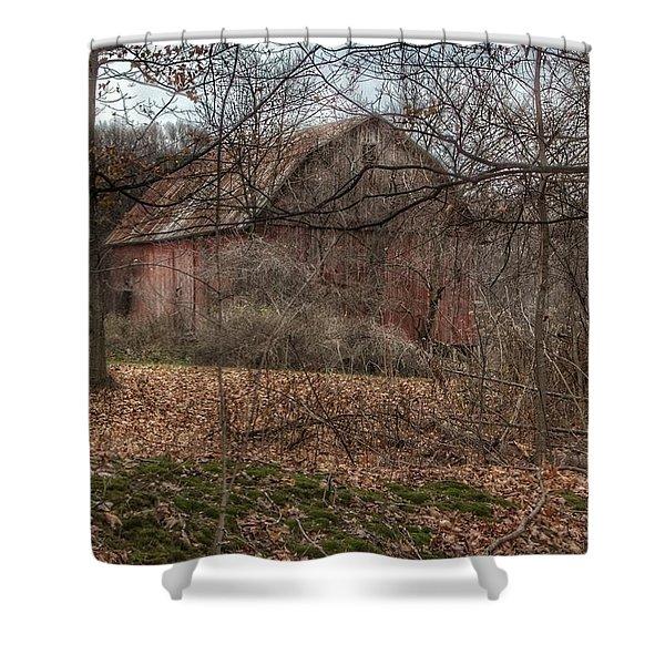 0026 - Mayville's Hidden Barn II Shower Curtain