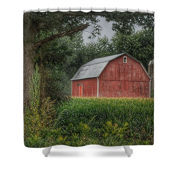 0027 - Mayville's Lapeer Road Red Shower Curtain