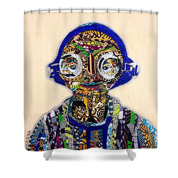 Maz Kanata Star Wars Awakens Afrofuturist Colection Shower Curtain