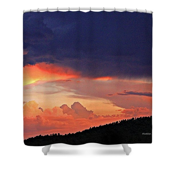 Mazatzal Peak Sunset Shower Curtain