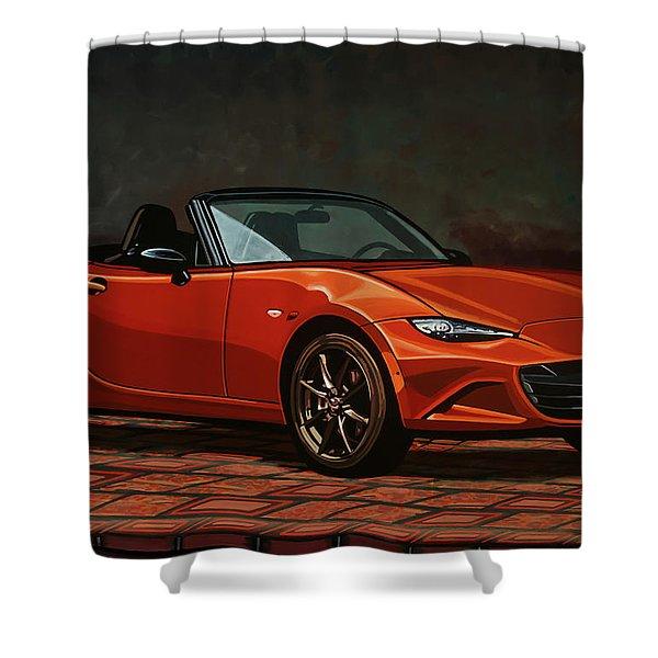 Mazda Mx-5 Miata 2015 Painting Shower Curtain