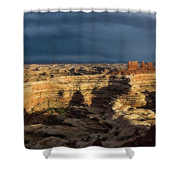 Maze Panorama Shower Curtain
