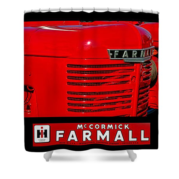 Mc Cormick Farmall Poster Shower Curtain