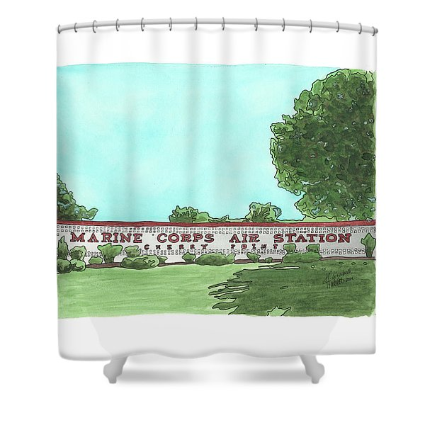 Mcas Cherry Point Welcome Shower Curtain