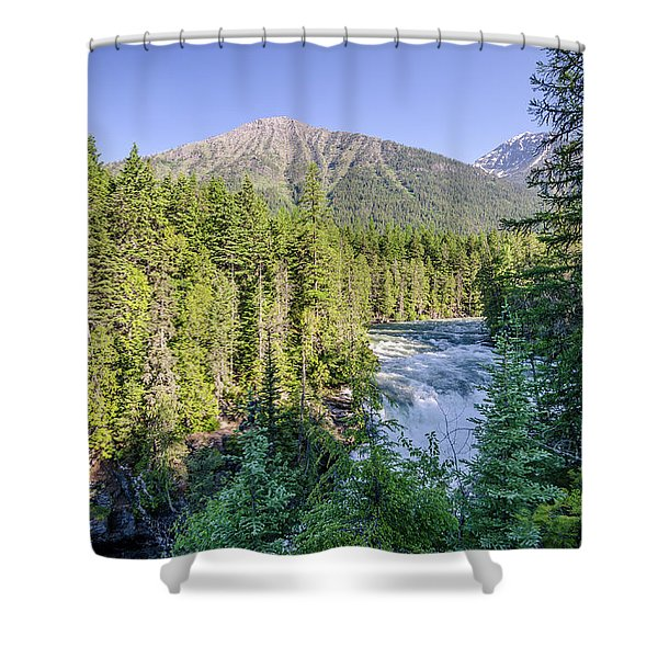 Mcdonald Falls Shower Curtain