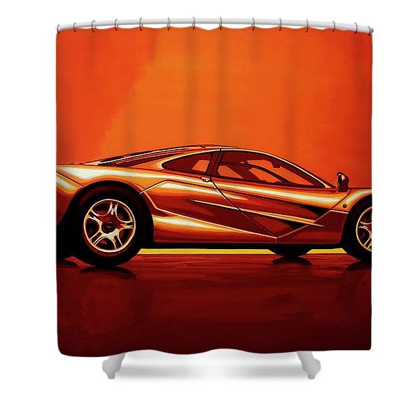 Mclaren F1 1994 Painting Shower Curtain