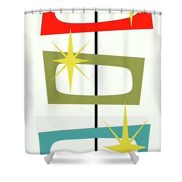 Mcm Shapes 3 Shower Curtain