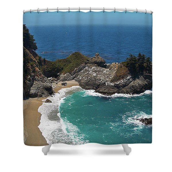 Mcway Falls In Big Sur Shower Curtain
