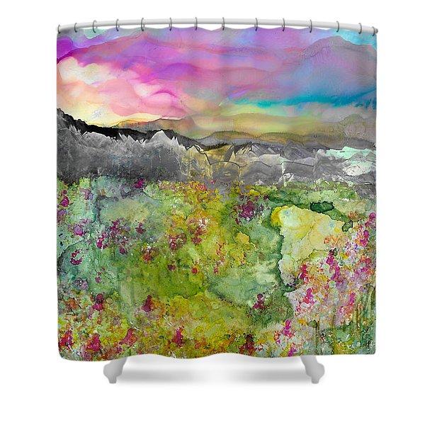 Meadows Of Banff Shower Curtain