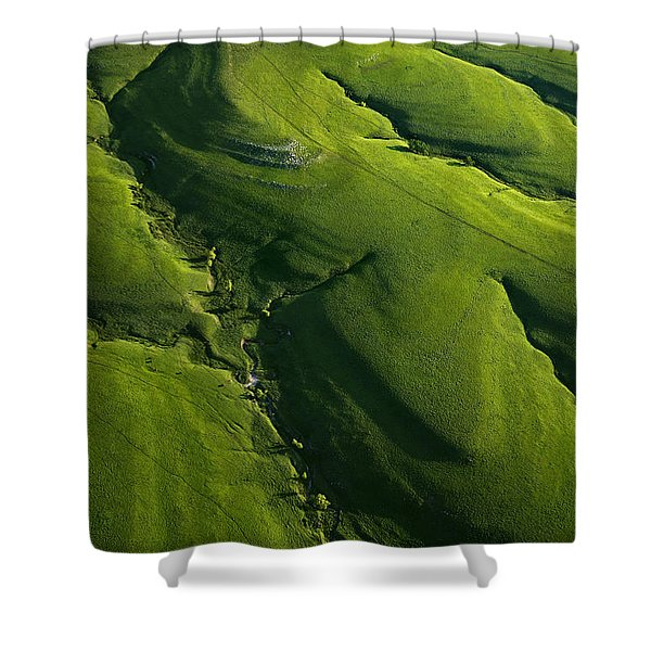 Meandering Valleys Of Texaco Hill Shower Curtain
