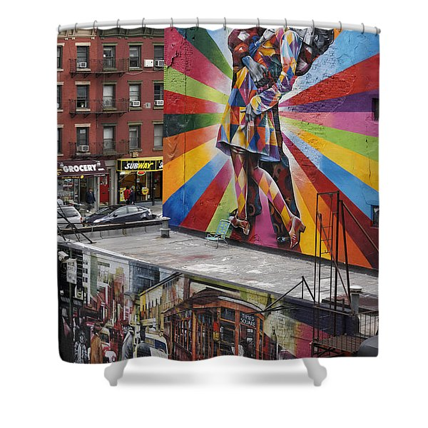 Shower Curtain featuring the photograph Meatpacking District Nyc by Juergen Held