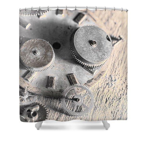 Mechanical Art Shower Curtain