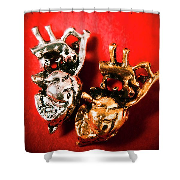 Mechanical Love Shower Curtain