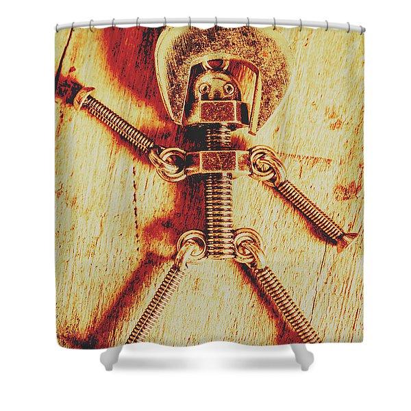 Mechanical Nut  Shower Curtain
