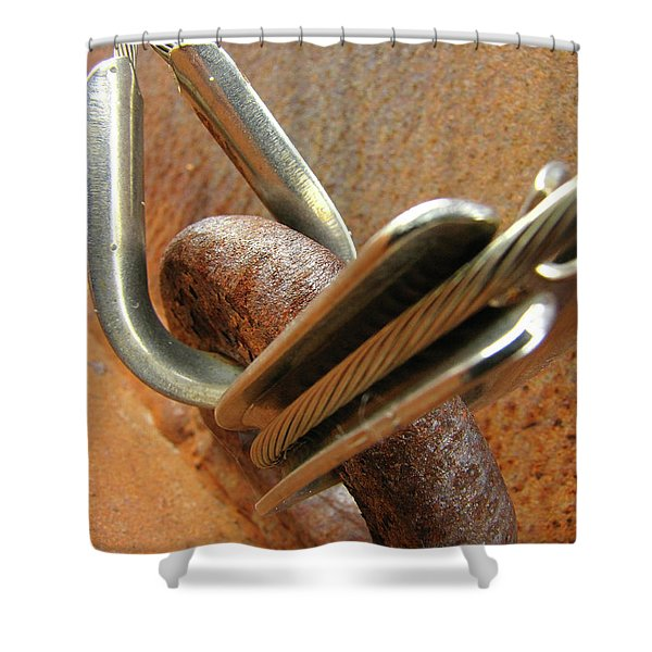 Mediation Of Conflict Shower Curtain