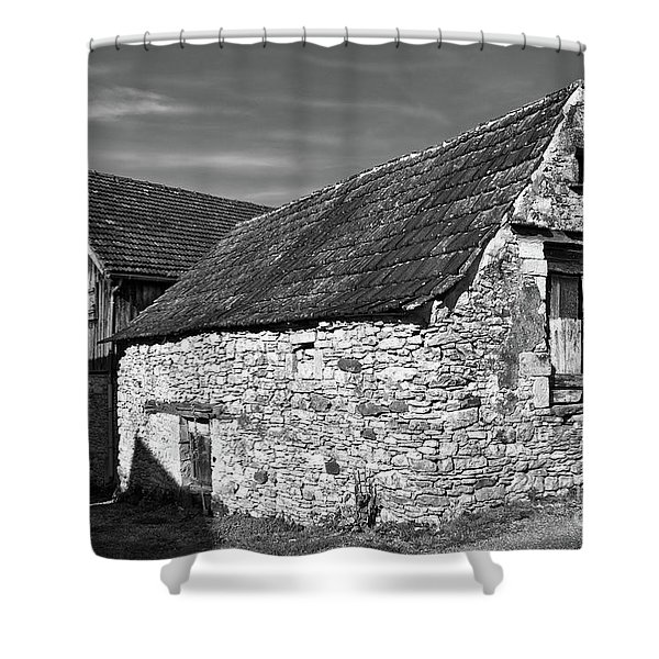 Shower Curtain featuring the photograph Medieval Country House Sound by Silva Wischeropp
