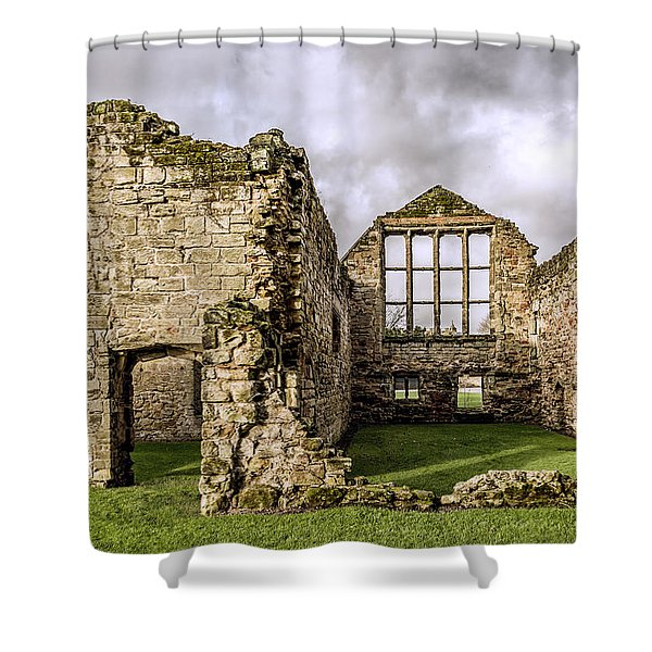 Shower Curtain featuring the photograph Medieval Ruins by Nick Bywater