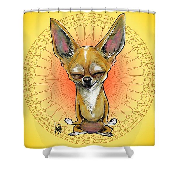 Meditating Chihuahua Shower Curtain