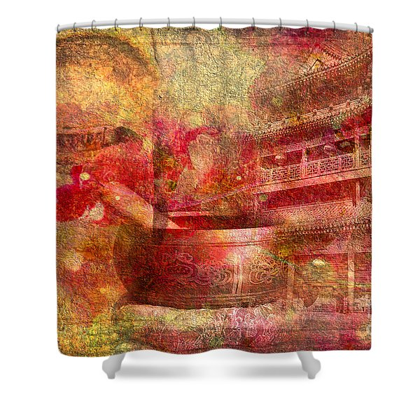 Meditative Montage 2015 Shower Curtain