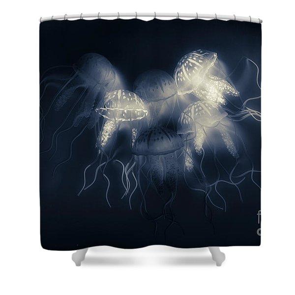 Medusas Light Shower Curtain