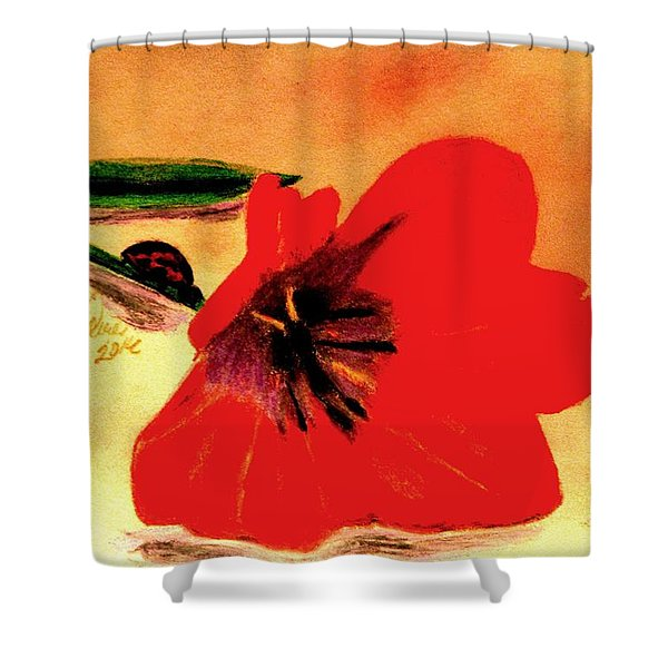 Meet Me In The Tulips Shower Curtain
