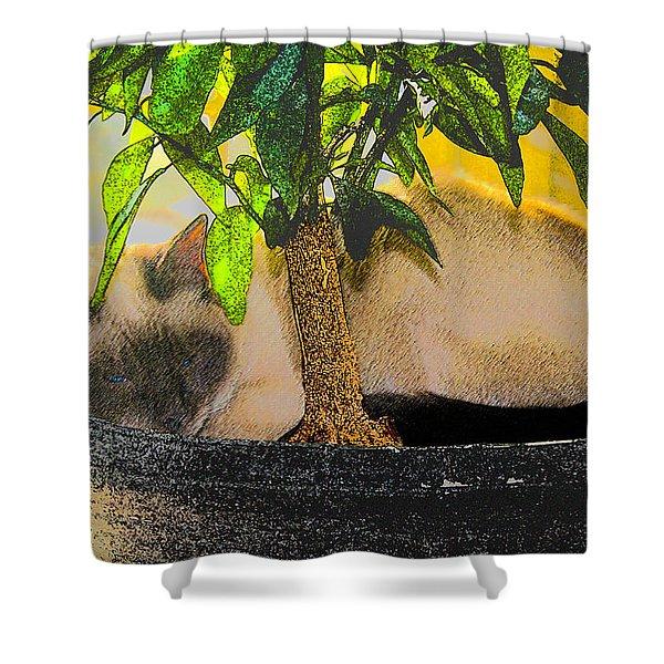 Meezer Tree Shower Curtain