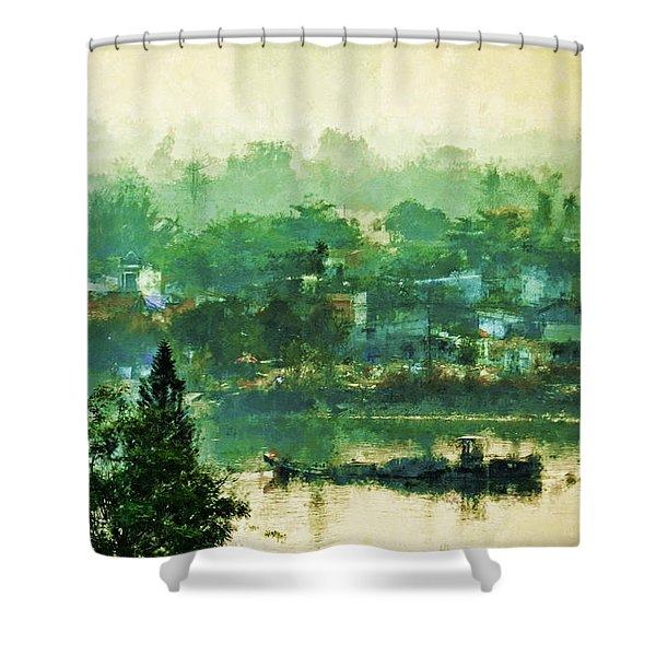 Mekong Morning Shower Curtain