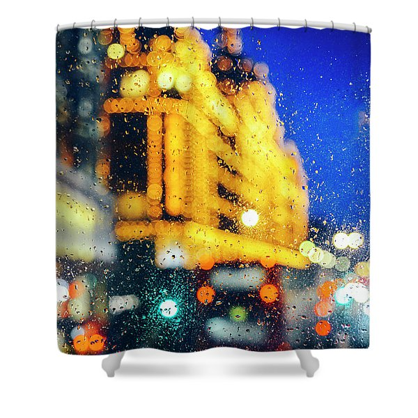 Melancholic London Lights  Shower Curtain